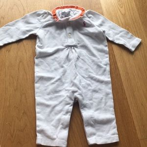 Used Ralph Lauren baby romper. Size 6m